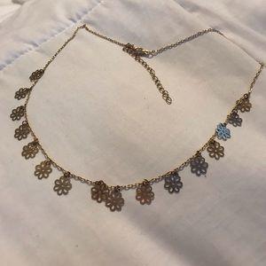 Brandy Melville Gold Flower Necklace